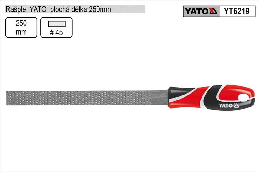Rašple  YATO plochá délka 250mm Nářadí 0.354Kg YT-6219