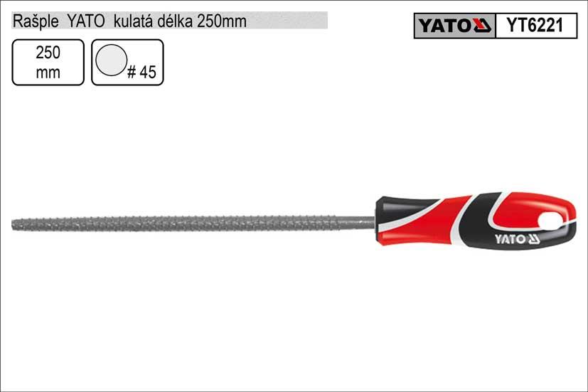 Rašple  YATO kulatá délka 250mm Nářadí 0.189Kg YT-6221