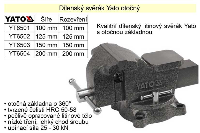 Svěrák  YATO otočný 200 mm
