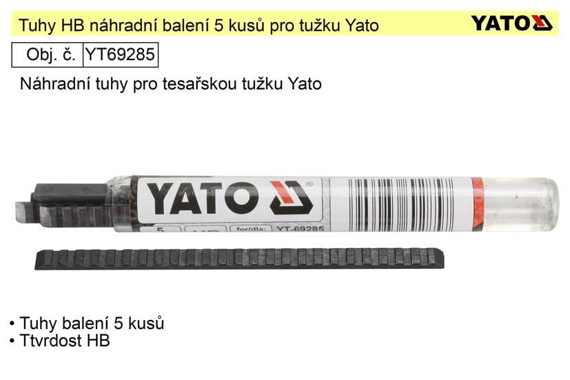 Tuhy náhardní HB balení 5 kusů pro tužku Yato