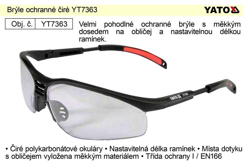 Brýle ochranné čiré YT-7363