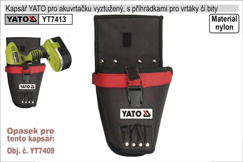 Kapsář  YATO na vrtačku vyztužený s příhrádkami na vrtáky či bity