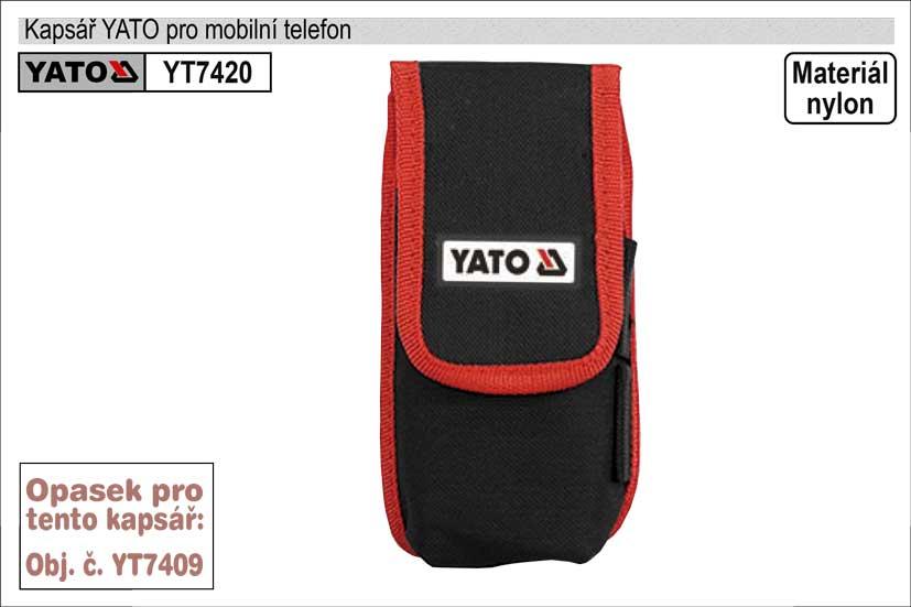 Kapsář  YATO pouzdro na mobilní telefon