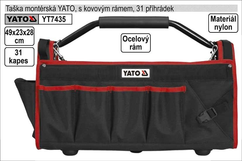 Taška  YATO montérská s 31 kapsami a kovovými madly
