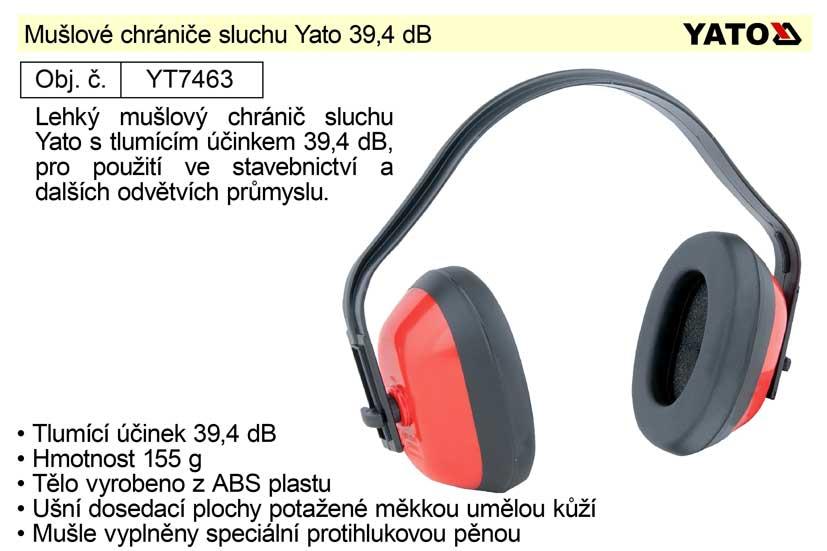 Mušlové chrániče sluchu Yato 39,4 dB