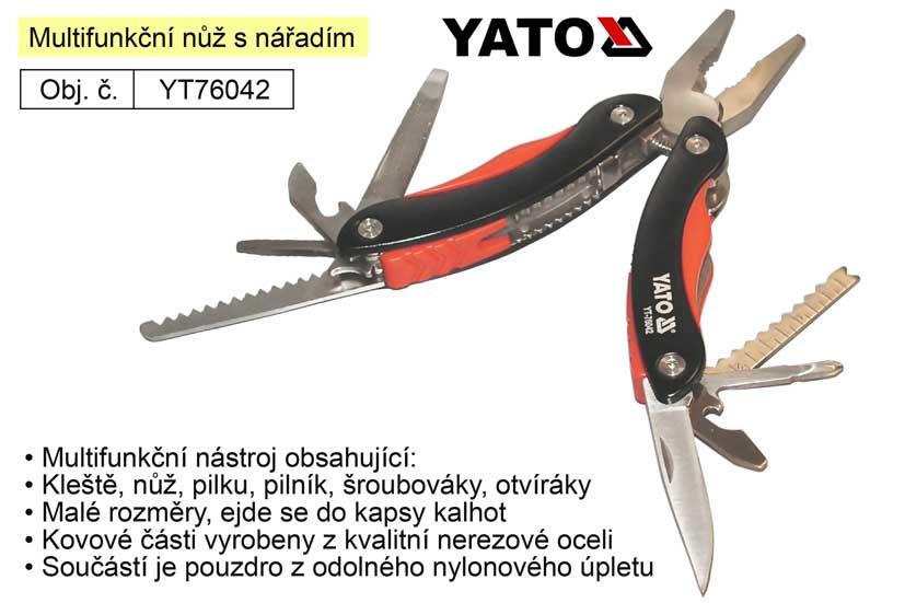 Multifunkční nůž s nářadím Yato Nářadí 0.344Kg YT-76042