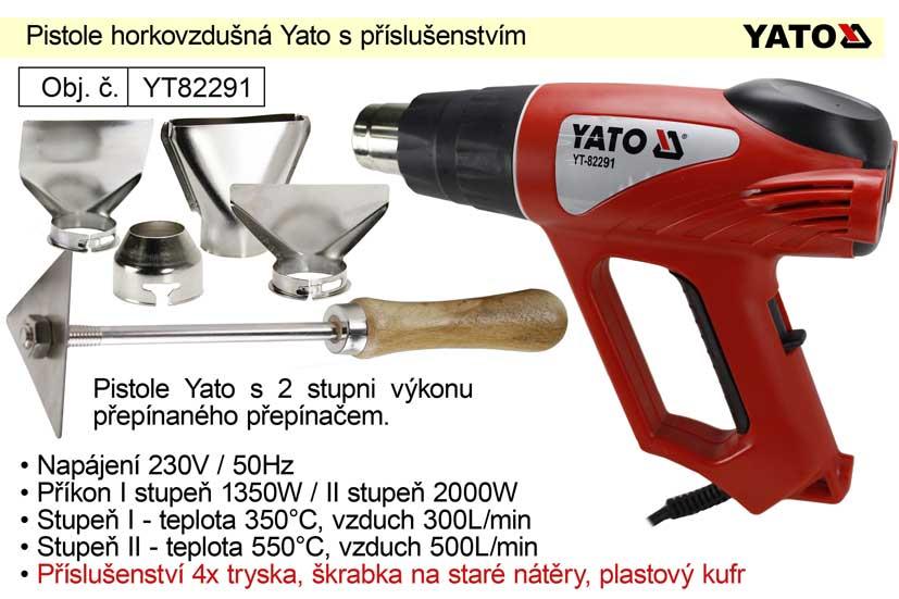 Pistole horkovzdušná Yato YT82291 v kufru