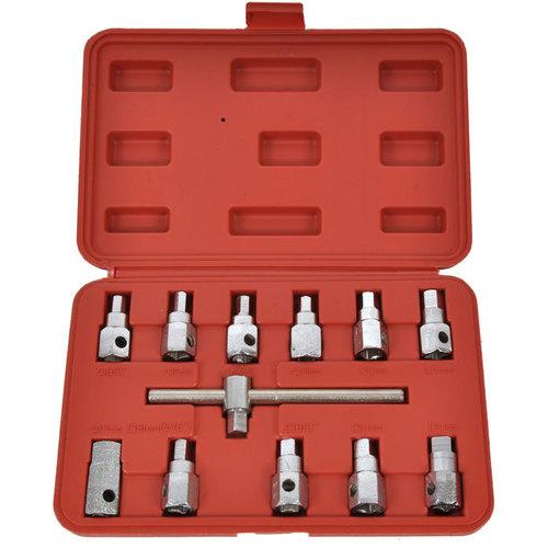 Nástrčné klíče na zátky olejových van 12 dílů,Geko G02710