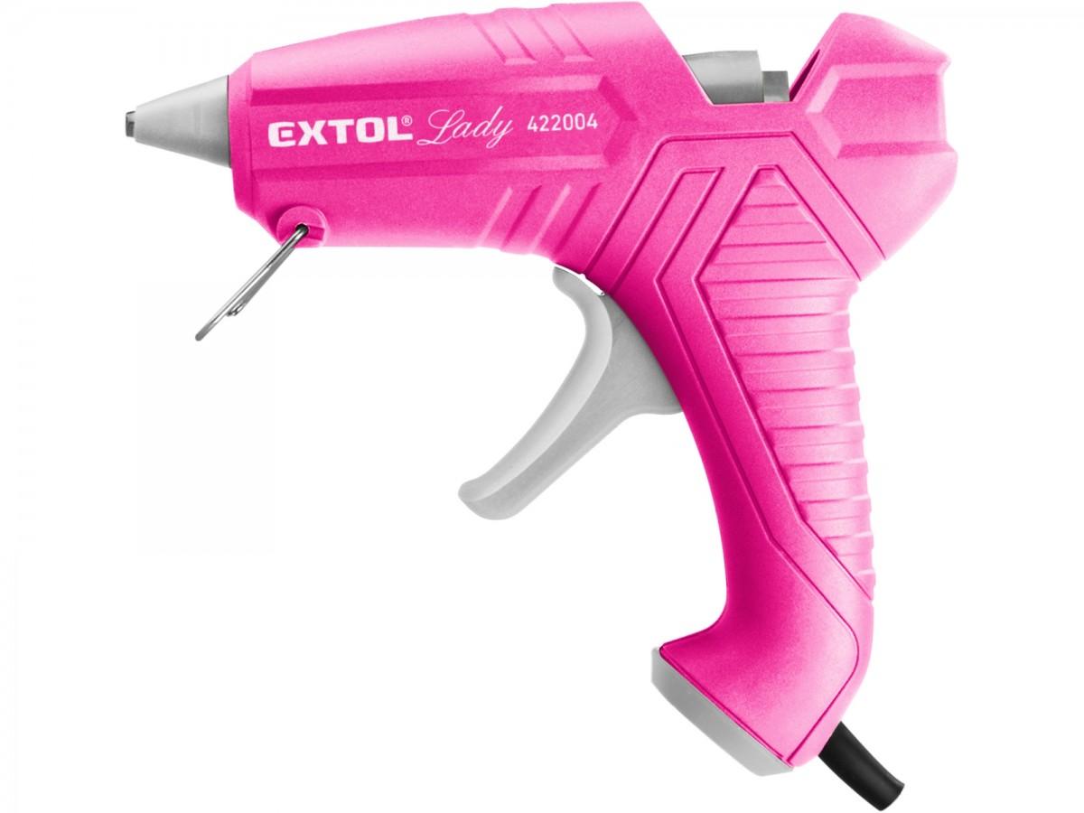 EXTOL pistole tavná lepící, 11mm, 40W, růžová