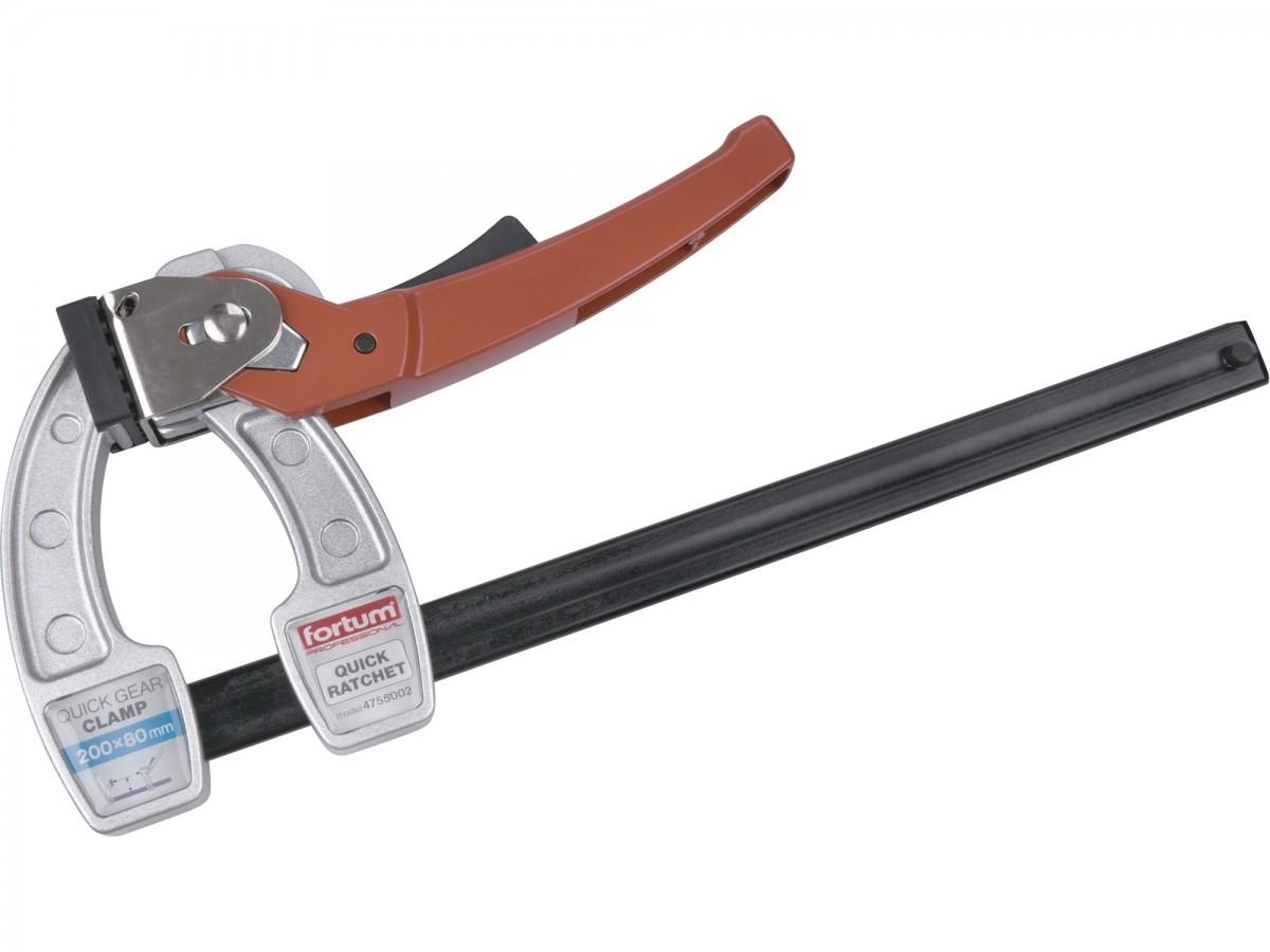 FORTUM svěrka F ráčnová-rychloupínací,kovová 200x80mm Nářadí 0.73Kg MA4755002