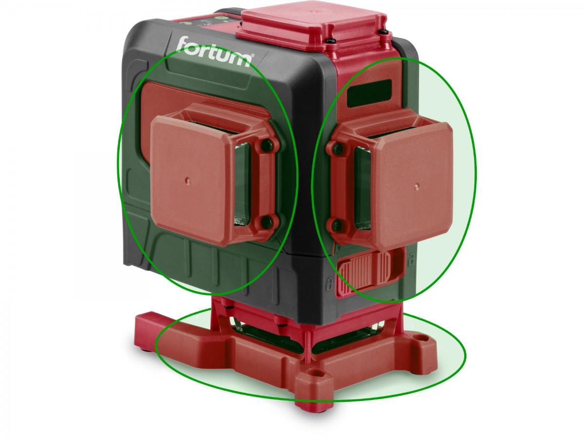 Křížový laser 3D 360° zelený paprsek, samonivelační FORTUM 4780216 Nářadí 1.78Kg MA4780216