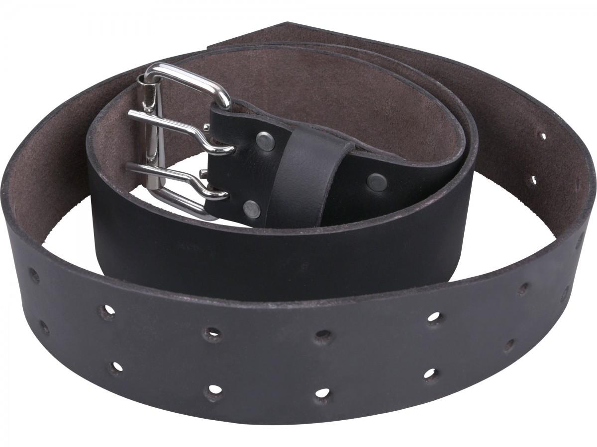 EXTOL PREMIUM opasek kožený černý, š.4,5cm x d.122cm, kovová přezka, kůže