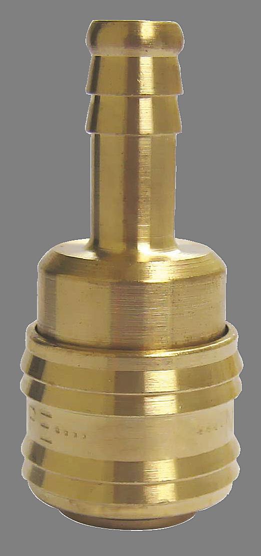 """Rychlospojka vzduchová hadicová zásuvka mosazná na hadici 6mm (1/4"""") Nářadí 0.04Kg INR76120614"""