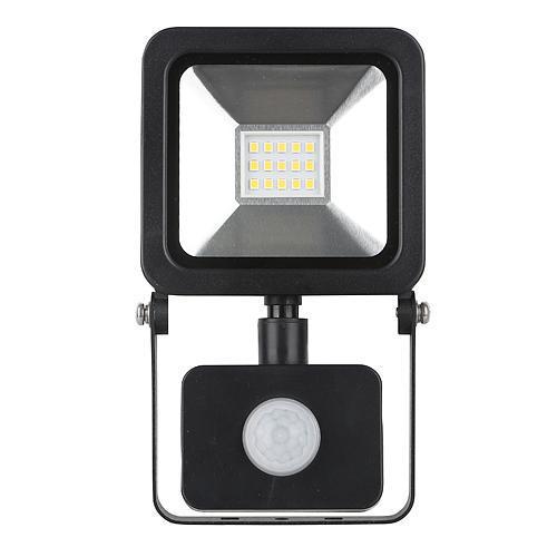 STREND PRO Floodlight LED reflektor AG-HFLAL10W-P, 10W, 800 lm, IP44, senzor