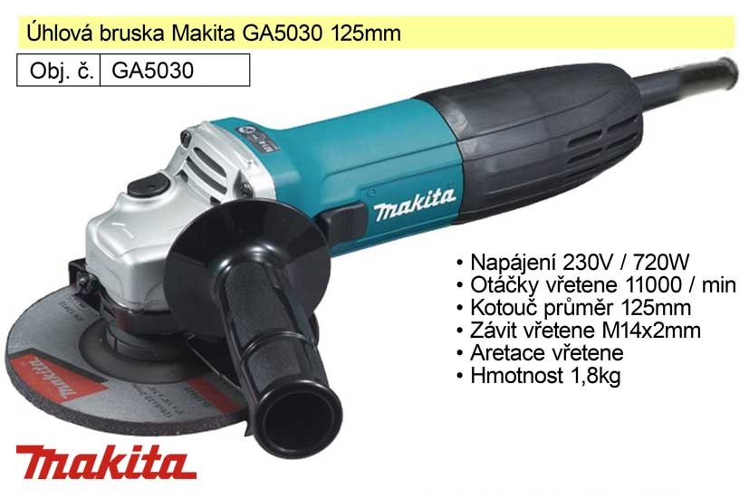 Bruska úhlová 125 mm 720W  Makita GA5030